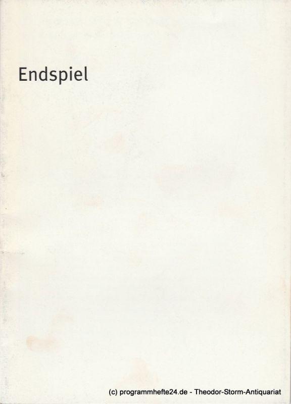 Bayerisches Staatsschauspiel, Dieter Dorn, Hans-Joachim Ruckhäberle, Georg Holzer Programmheft ENDSPIEL von Samuel Beckett. Spielzeit 2002 / 2003 Heft Nr. 25