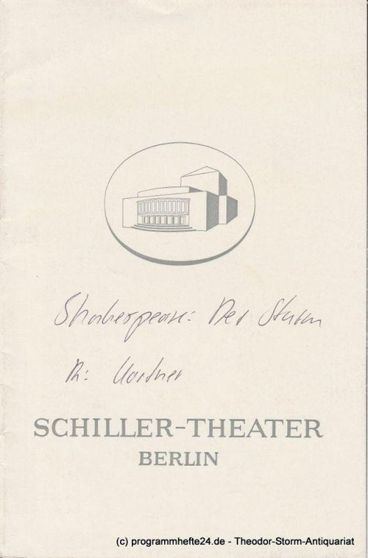Schiller-Theater Berlin, Boleslaw Barlog, Albert Beßler Programmheft Der Sturm von William Shakespeare Spielzeit 1968 / 69