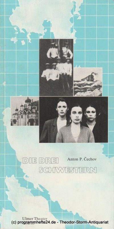 Ulmer Theater, Volkmar Clauß, Wilhelm Lades Programmheft Drei Schwestern von Anton P. Cechov. Premiere 3. Mai 1983 Spielzeit 1982 / 83