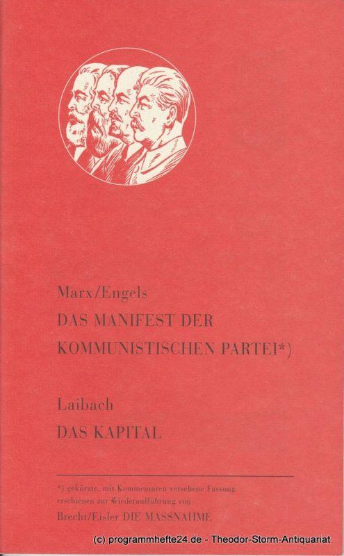 Berliner Ensemble, Carl G. Hegemann, Susanne Winnacker, Anna Melcher Programmheft DIE MASSNAHME von Bertolt Brecht / Hanns Eisler Premiere 13. September 1997 Spielzeit 1997 / 98