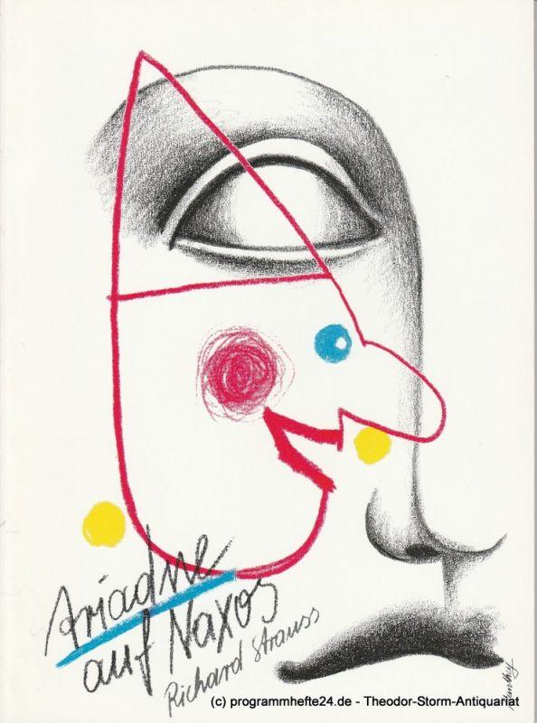 Staatsoper Stuttgart, Klaus Zehelein, Antje Kaiser Programmheft Ariadne auf Naxos. Spielzeit 1991 / 92 Heft 3