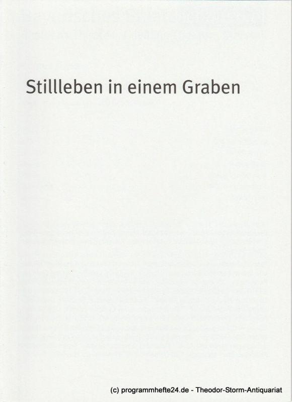 Bayerisches Staatsschauspiel, Dieter Dorn, Hans-Joachim Ruckhäberle, Georg Holzer Programmheft Stillleben in einem Graben. Premiere 19. Oktober 2008 im Marstall Spielzeit 2008 / 09 Heft Nr. 110