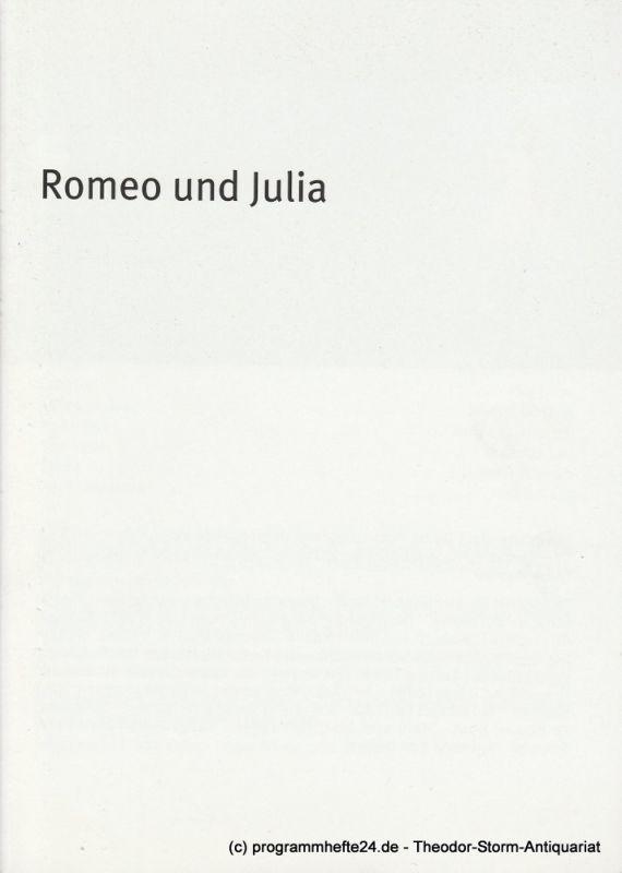 Bayerisches Staatsschauspiel, Dieter Dorn, Hans-Joachim Ruckhäberle, Andrea Vilter Programmheft Romeo und Julia von William Shakespeare. Premiere 29. Mai 2008 im Residenz Theater