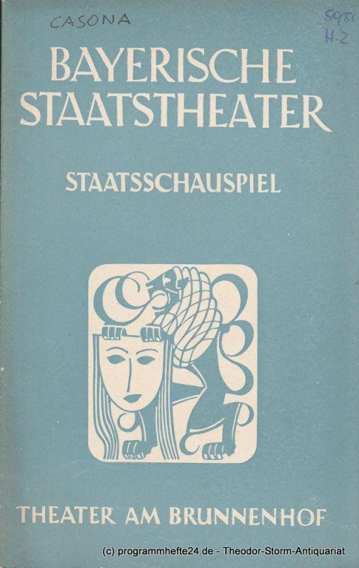 Bayerisches Staatstheater, Staatsschauspiel, Theater am Brunnenhof, Alois Johannes Lippl Programmheft Die Frau im Morgengrauen von Alejandro Casona 12. Dezember 1950