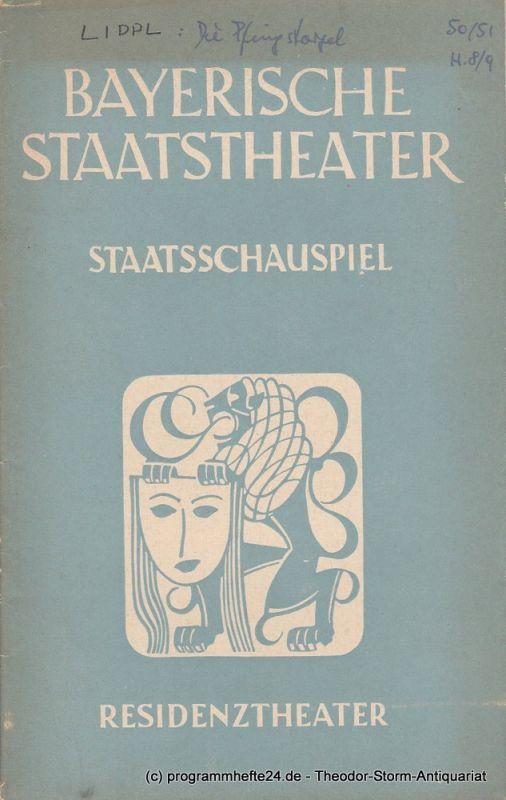 Bayerisches Staatstheater, Staatsschauspiel, Residenztheater, Alois Johannes Lippl Programmheft Neuinszenierung Die Pfingstorgel 1. August 1951