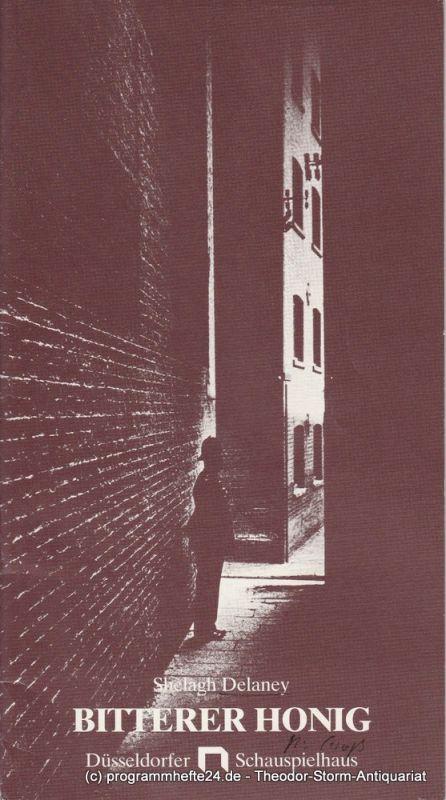 Düsseldorfer Schauspielhaus, Günther Beelitz, Rüdiger Meinel Programmheft Bitterer Honig von Shelagh Delaney Spielzeit 1985 / 86 Heft 10