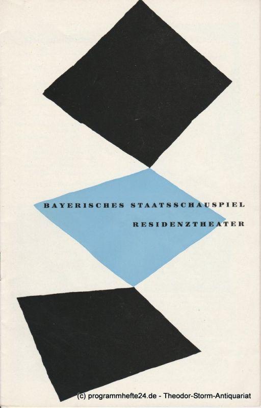 Bayerisches Staatsschauspiel, Residenztheater, Walter Haug Programmheft Neuinszenierung Die portugalesische Schlacht. Premiere 16. Februar 1959