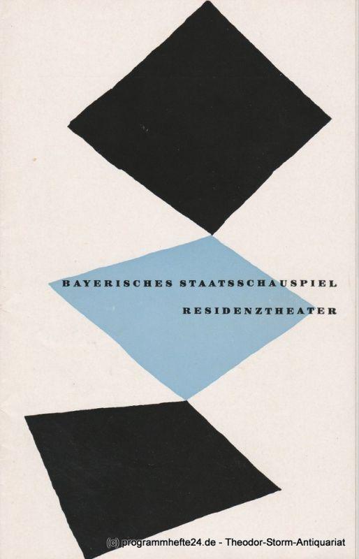 Bayerisches Staatsschauspiel, Residenztheater, Walter Haug Programmheft Neuinszenierung Troilus und Cressida. 6. Oktober 1955