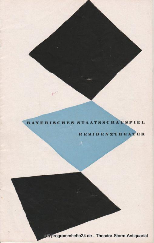 Bayerisches Staatsschauspiel, Residenztheater, Walter Haug Programmheft Neuinszenierung TARTUFFE. Komödie von Moliere. 5. November 1955