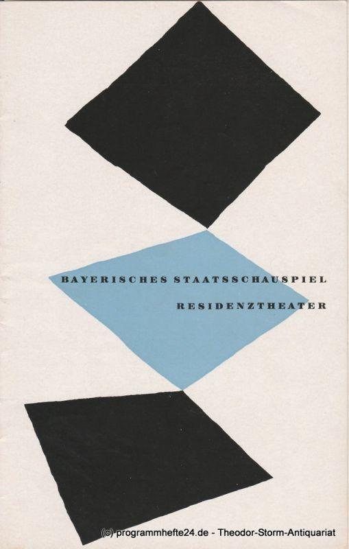 Bayerisches Staatsschauspiel, Residenztheater, Walter Haug Programmheft Erstaufführung Das Schloß 1. Dezember 1955