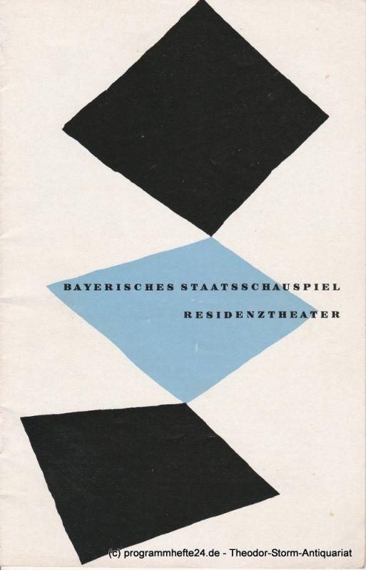 Bayerisches Staatsschauspiel, Residenztheater, Walter Haug Programmheft Lumpazivagabundus oder Das liederliche Kleeblatt 29. Januar 1956