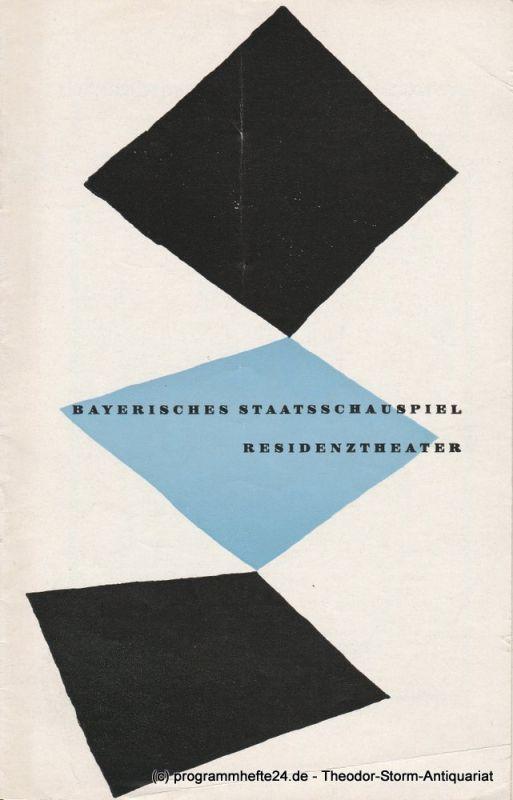 Bayerisches Staatsschauspiel, Residenztheater, Walter Haug Programmheft Erstaufführung Das Buch von Christoph Columbus von Paul Claudel. 1. August 1956