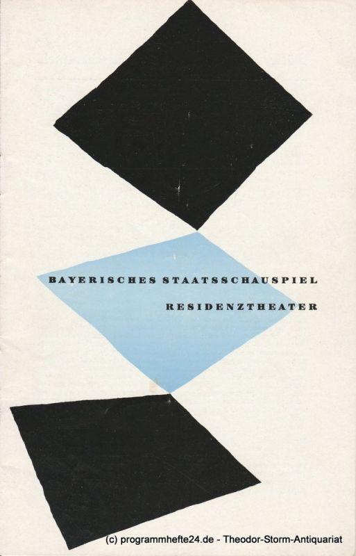Bayerisches Staatsschauspiel, Residenztheater, Rolf Schaefer Programmheft Neuinszenierung: Die Schule der Frauen. 12. November 1956