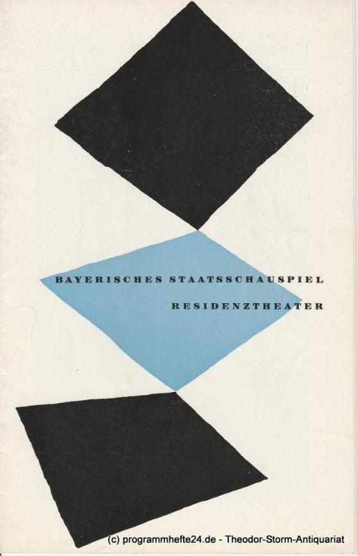 Bayerisches Staatsschauspiel, Residenztheater, Walter Haug Programmheft Die brillante Kammerzofe 1. Oktober 1957