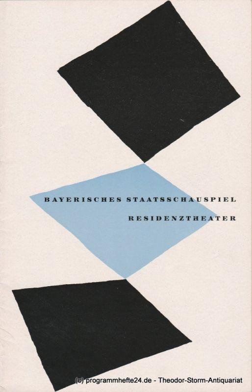 Bayerisches Staatsschauspiel, Residenztheater, Walter Haug Programmheft Ein Sommernachtstraum von William Shakespeare 18. September 1954