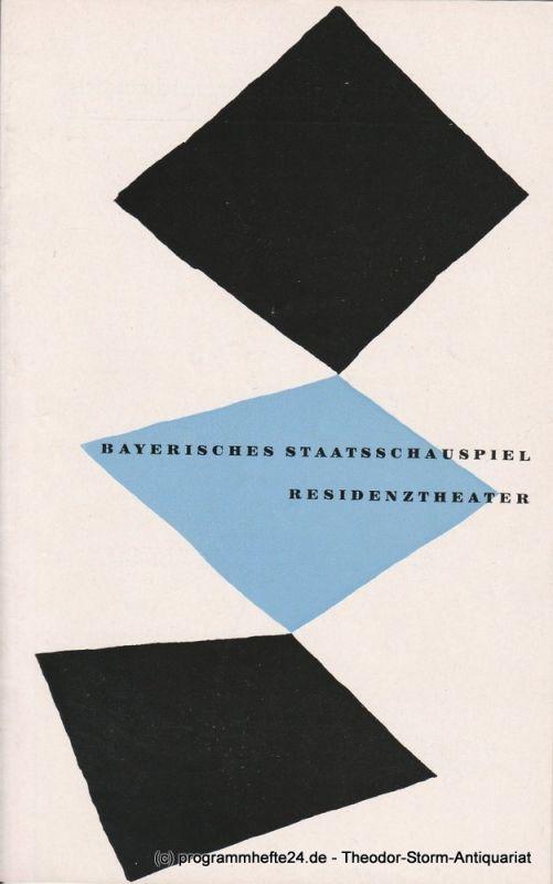 Bayerisches Staatsschauspiel, Residenztheater, Walter Haug Programmheft MARIA STUART Trauerspiel von Friedrich Schiller 15. Mai 1955