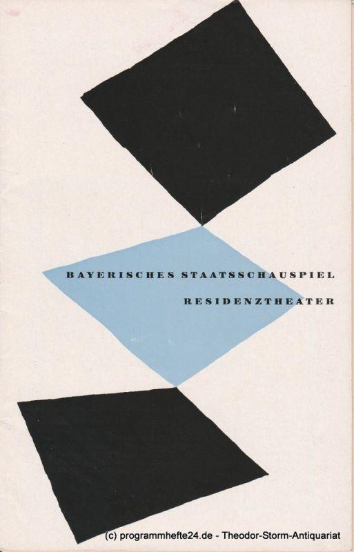 Bayerisches Staatsschauspiel, Residenztheater, Walter Haug Programmheft Der Plumpsack. Schauspiel von Richard Billinger. 28. Dezember 1954