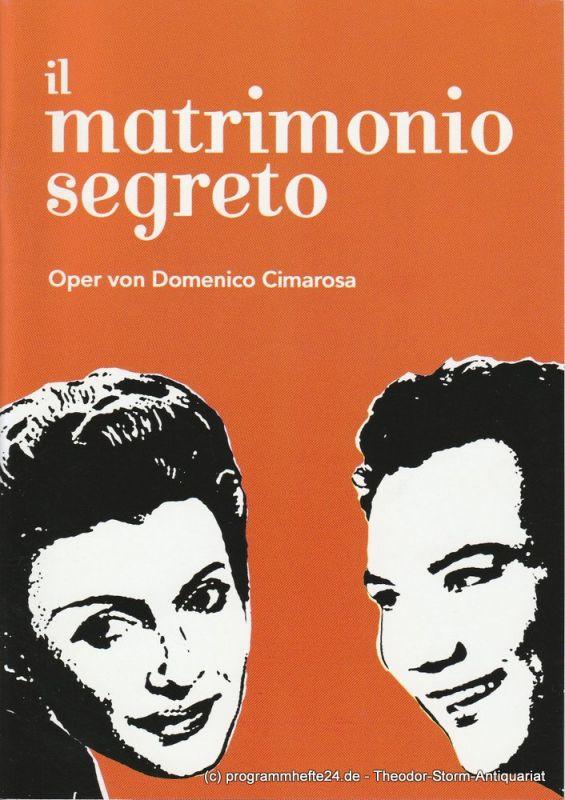 Hochschule für Musik und Theater München, Julia Breun Programmheft il matrimonio segreto. Oper von Domenico Cimarosa. Premiere 23. Mai 2008