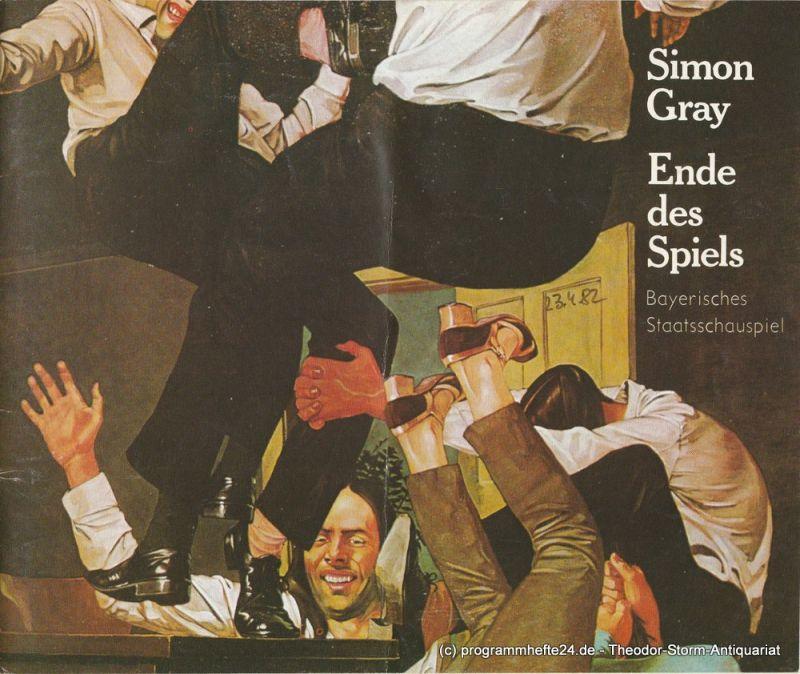 Bayerisches Staatsschauspiel, Kurt Meisel, Otto König, Claus Seitz Programmheft Ende des Spiels von Simon Gray. Premiere 23. April 1982