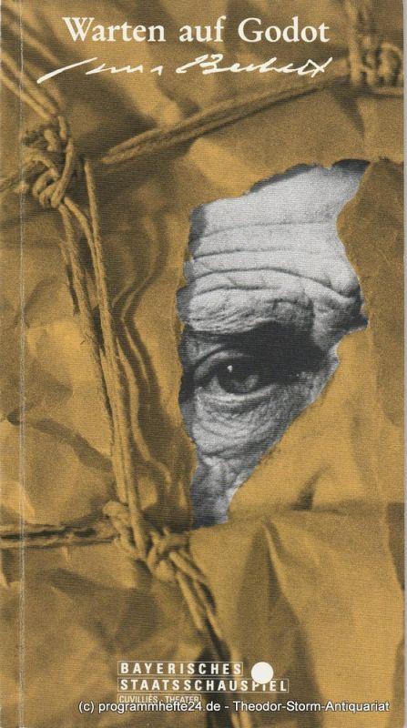 Bayerisches Staatsschauspiel, Cuvillies-Theater, Günther Beelitz, Oliver Reese, Bertram Dippel Programmheft Warten auf Godot Premiere 26. März 1991 Spielzeit 1990 / 91 Heft 61