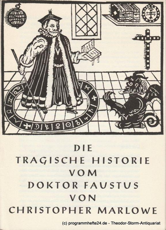 Kurfürst - Friedrich - Gymnasium Heidelberg Programmheft Die tragische Historie vom Doktor Faustus von Christopher Marlowe 11., 15., 19. November 1963 in der Stadthalle
