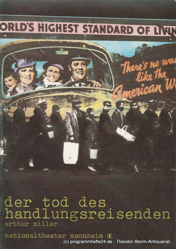 Nationaltheater Mannheim, Arnold Petersen, Eilhard Jacobs, Dietrich Börngen Programmheft Neuinszenierung Der Tod des Handlungsreisenden 29. Juni 1982 Spielzeit 1981 / 82 Nr. 18