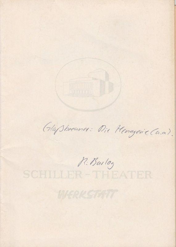 Schiller Theater Werkstatt, Boleslaw Barlog, Albert Beßler Programmheft Alt-Berliner Possenabend Spielzeit 1960 / 61