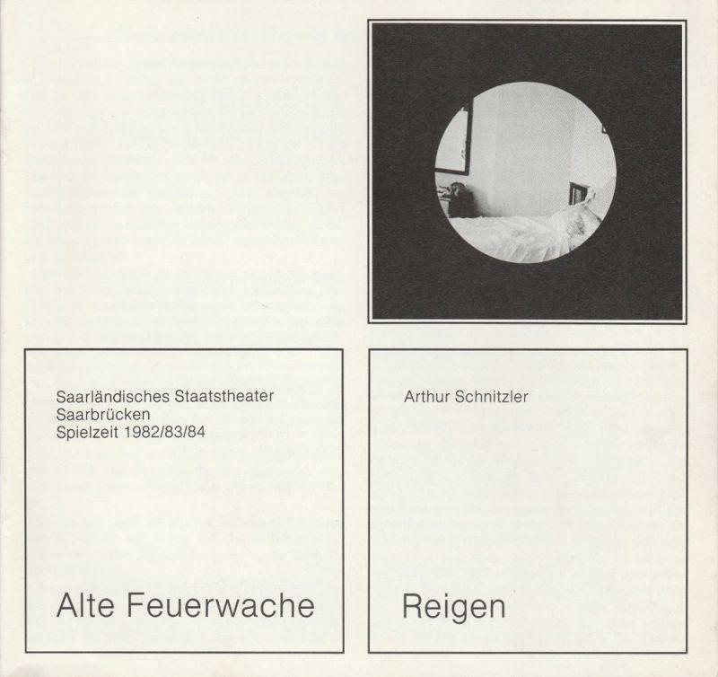 Saarländisches Staatstheater Saarbrücken, Peter Stertz Programmheft Arthur Schnitzler: REIGEN Premiere 30. Juni 1983 Spielzeit 1982 / 83 / 84