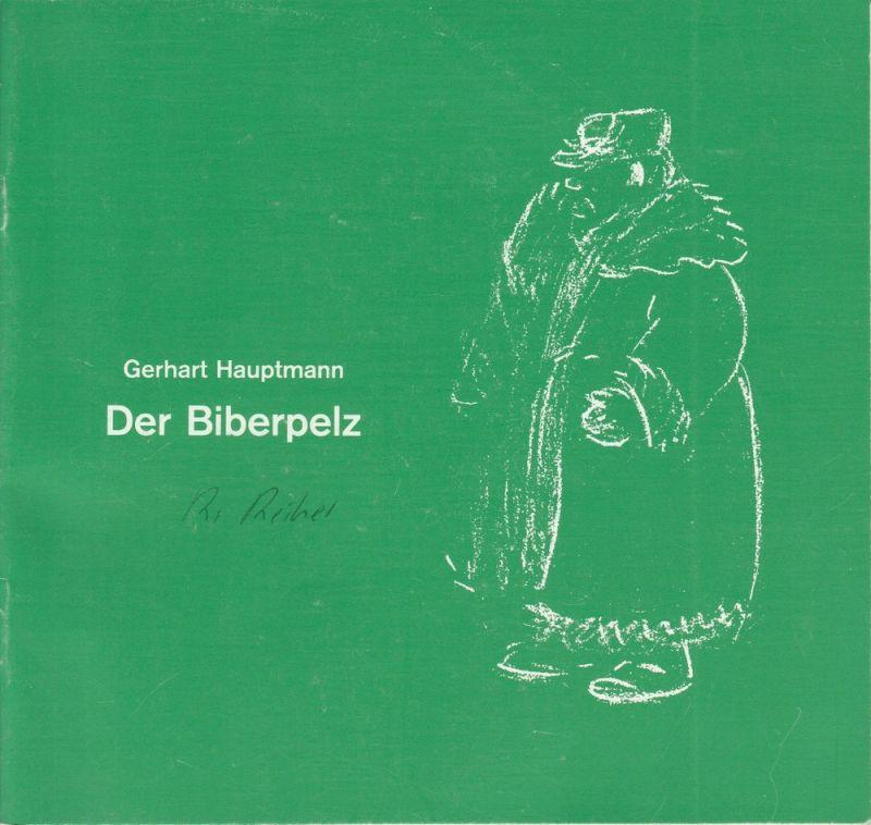 Landesbühne Niedersachsen Nord im Stadttheater Wilhelmshaven, Georg Immelmann, Marlies Langhorst Programmheft DER BIBERPELZ. Premiere 10.7.1986. Spielzeit 1986 / 87 Heft 5