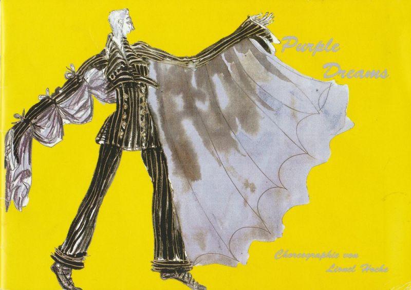 Komische Oper Berlin, Albert Kost, Kerstin Evert, Wolfgang Hilse ( Fotos ) Programmheft Tanztheater Uraufführung PURPLE DREAMS 8. Dezember 1998