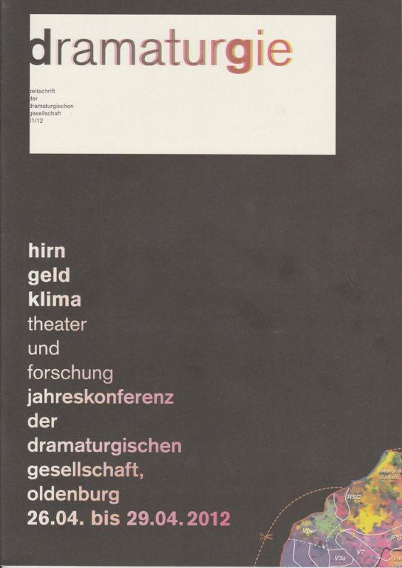 Dramaturgische Gesellschaft, Susanne Jaeschke dramaturgie. Zeitschrift der dramaturgischen Gesellschaft 01 / 12