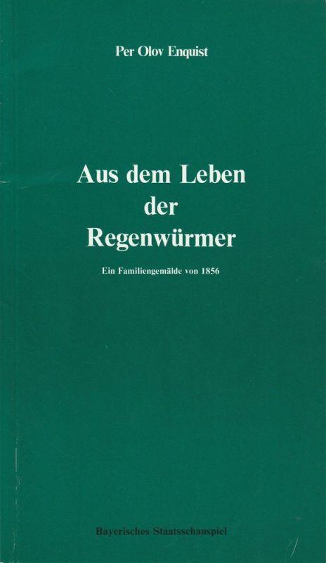Bayerisches Staatsschauspiel, Frank Baumbauer, Burkhard Mauer, Heike Wiehle Programmheft Aus dem Leben der Regenwürmer Premiere 4. Mai 1984