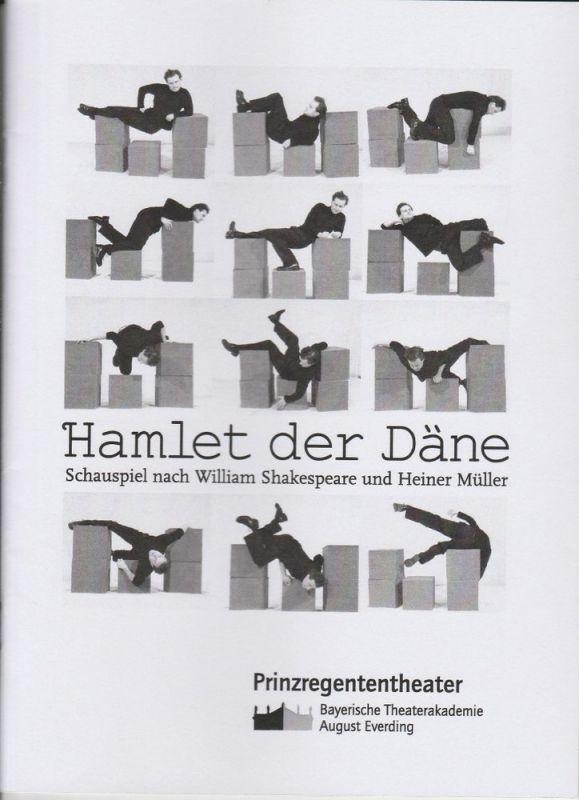 Bayerische Theaterakademie August Everding, Prinzregententheater Programmheft Hamlet der Däne. Schauspiel nach William Shakespeare und Heiner Müller. Premiere 21. Januar 2005