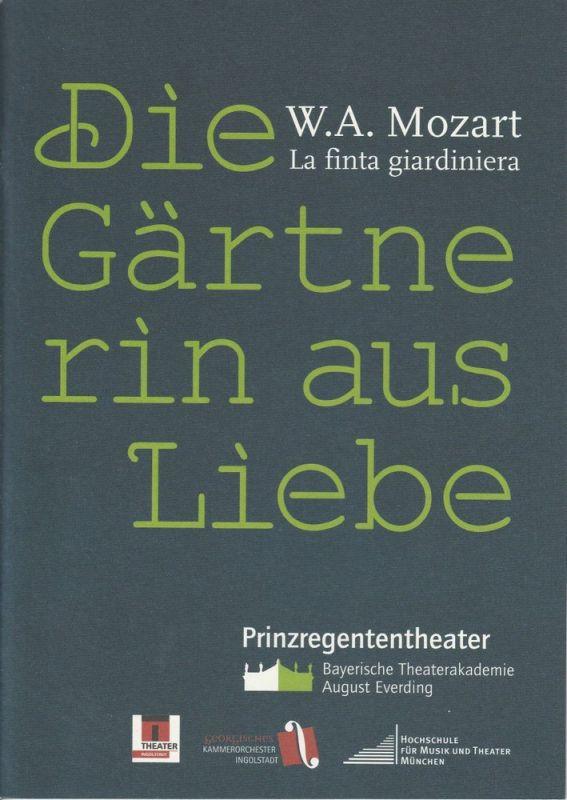 Bayerische Theaterakademie August Everding,Prinzregententheater, Hella Bartnig, Heiko Voss Programmheft Die Gärtnerin aus Liebe von Wolfgang Amadeus Mozart. Premiere 29. Januar 2006