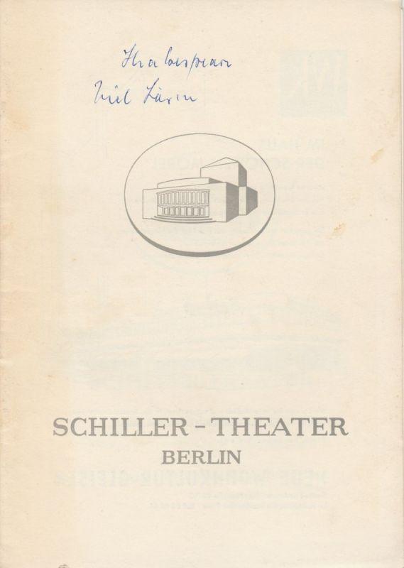 Schiller – Theater Berlin, Boleslaw Barlog, Albert Beßler Programmheft Viel Lärm um nichts. Lustspiel von William Shakespeare. Spielzeit 1957 / 58 Heft 72