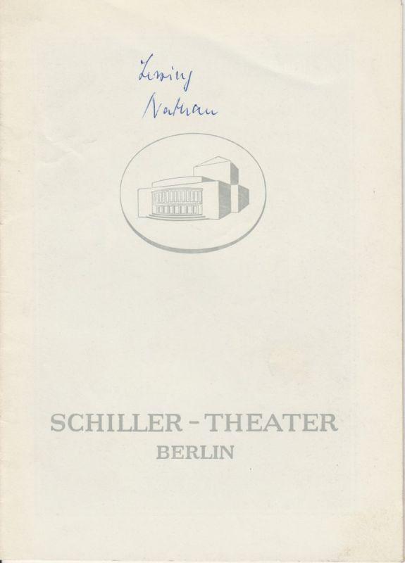 Schiller – Theater Berlin, Boleslaw Barlog, Albert Beßler Programmheft Nathan der Weise von Gotthold Ephraim Lessing. Spielzeit 1954 / 55 Heft 46