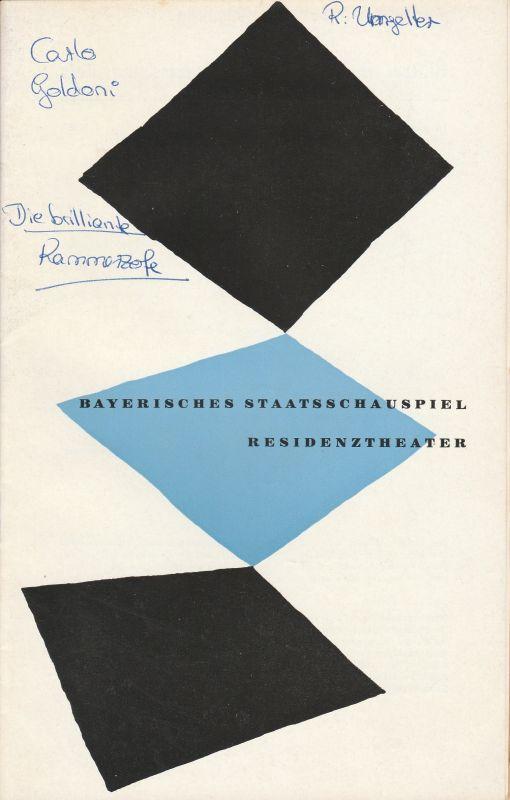 Bayerisches Staatsschauspiel, Residenztheater, Kurt Horwitz, Walter Haug Programmheft Die brillante Kammerzofe von Carlo Goldoni. 3. Oktober 1957 Spielzeit 1957 / 58 Heft 1