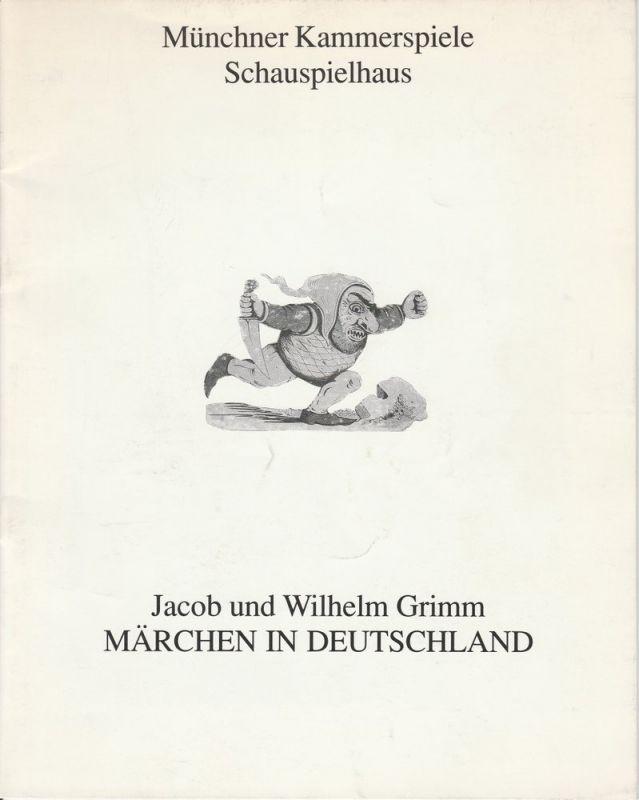 Münchner Kammerspiele, Schauspielhaus, Dieter Dorn, Hans-Joachim Ruckhäberlem, Vera Sturm, Marion Tiedtke Programmheft Märchen in Deutschland von Jacob und Wilhelm Grimm. Premiere 15. Oktober 1992 Spielzeit 1992 / 93