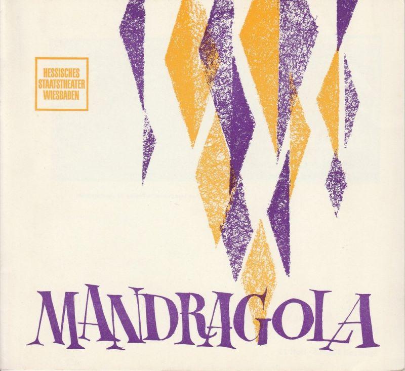 Hessisches Staatstheater Wiesbaden, Claus Helmut Drese, Hanno Lunin Programmheft MANDRAGOLA. Internationale Maifestspiele 1965