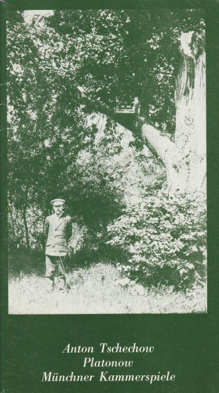 Münchner Kammerspiele, Hans-Reinhard Müller, Michael Eberth, Wolfgang Zimmermann Programmheft Anton Tschechow: Platonow Premiere 15. März 1981 Spielzeit 1980 / 81 Heft 4