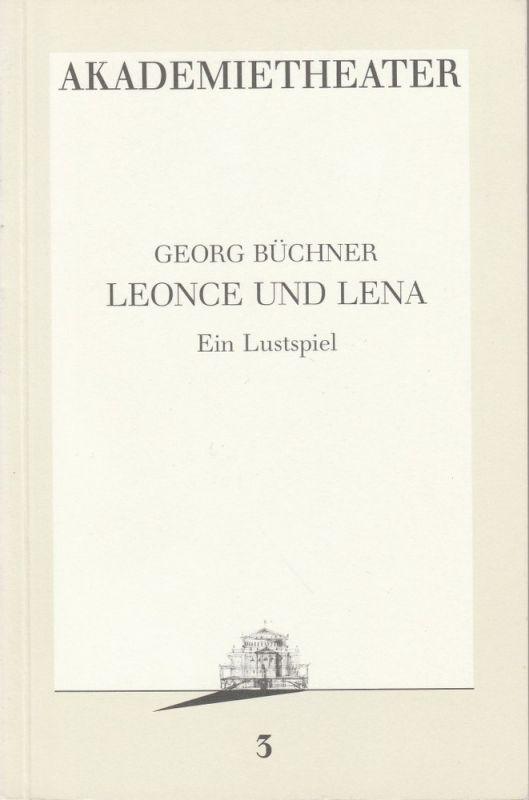 Burgtheater Wien, Hermann Beil Programmheft LEONCE UND LENA Premiere 10.9.1986 Programmbuch Nr. 3