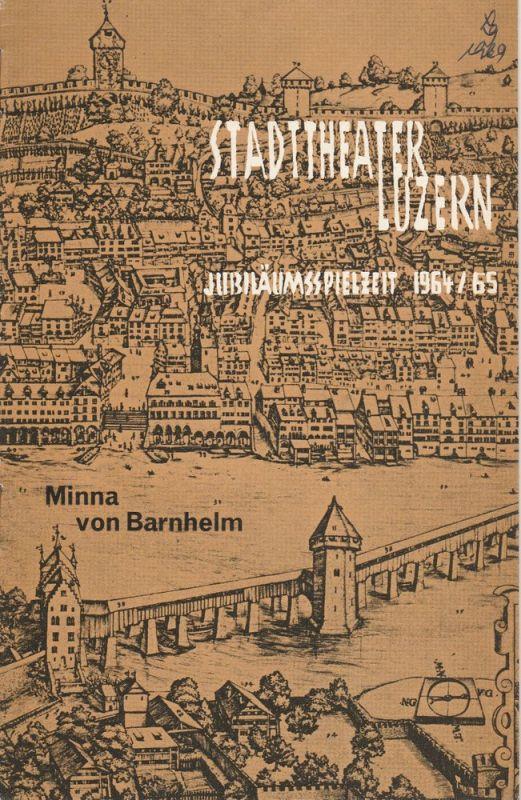 Stadttheater Luzern, Horst Gnekow, Klaus Keßler Programmheft Minna von Barnhelm Spielzeit 1964 / 65 Nr. 3