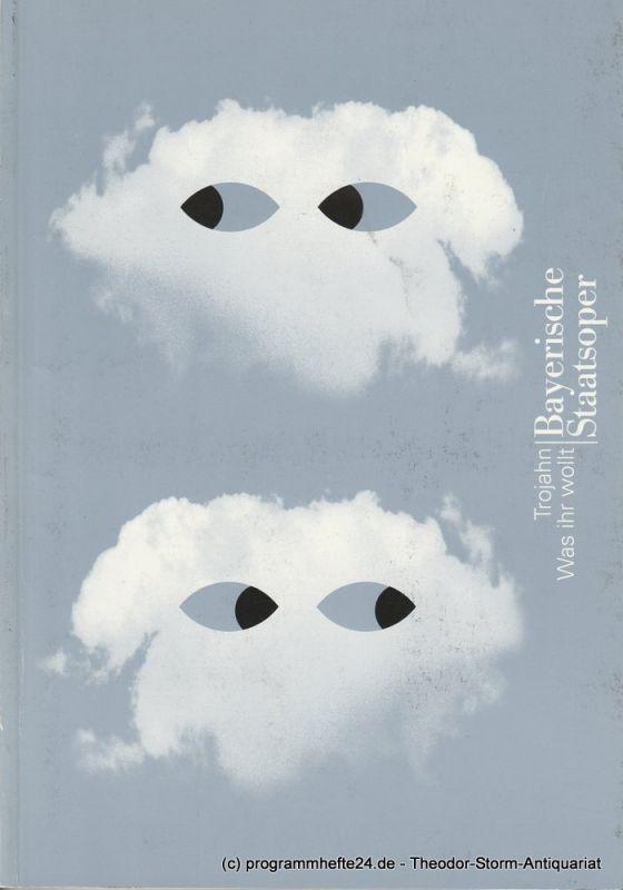 Bayerische Staatsoper, Peter Jonas, Hanspeter Krellmann Programmheft Uraufführung Was Ihr Wollt von Manfred Trojahn. Premiere am 24. Mai 1998 im Nationaltheater