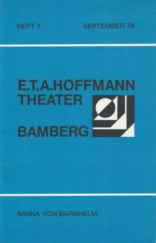 E.T.A. Hoffmann Theater Bamberg, Lutz Walter, Manfred Bachmeyer Programmheft Minna von Barnhelm. Spielzeit 1979 / 80 Heft 1 September 79