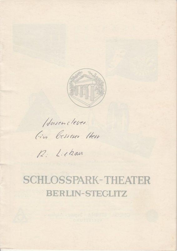 Schlosspark-Theater, Boleslaw Barlog, Albert Beßler Programmheft Ein besserer Herr Spielzeit 1957 / 58 Heft 59