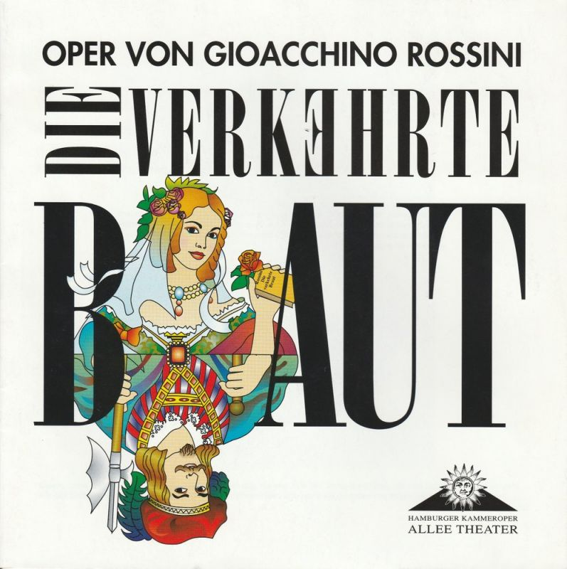 Allee Theater, Hamburger Kammeroper, Uwe Deeken, Barbara Hass Programmheft DIE VERKEHRTE BRAUT. Premiere 31. Oktober 2001