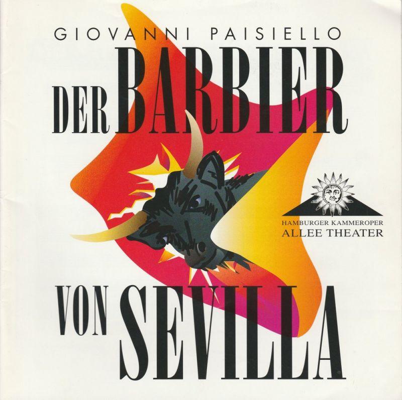 Allee Theater, Hamburger Kammeroper, Uwe Deeken, Jasmin Deeken, Barbara Hass Programmheft Der Barbier von Sevilla. Premiere 19. Oktober 2005
