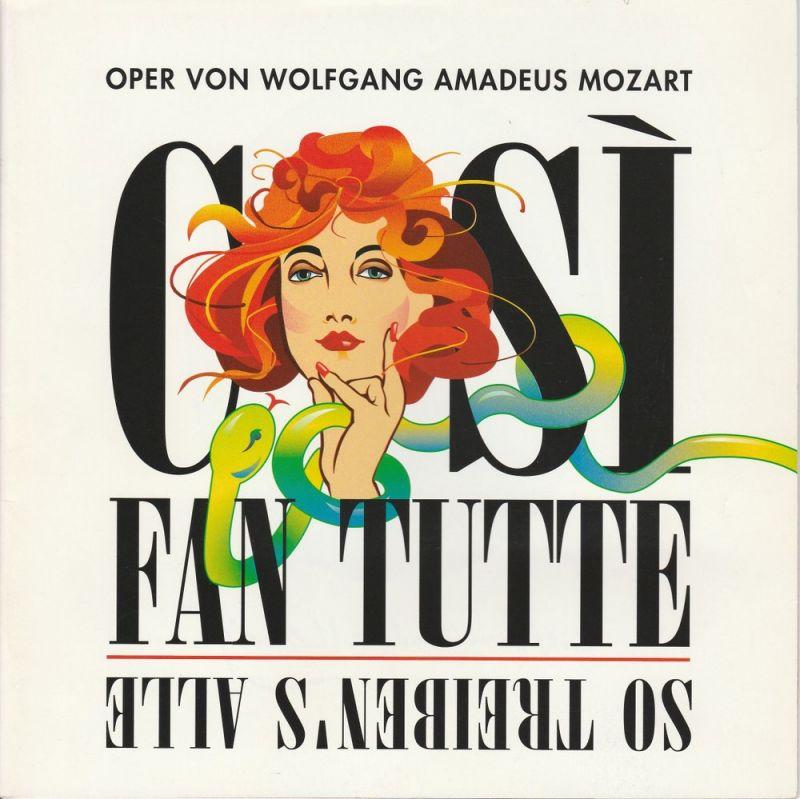 Allee Theater, Hamburger Kammeroper, Jasmin Deeken, Barbara Hass Programmheft COSI FAN TUTTE. Premiere 17. Februar 2006
