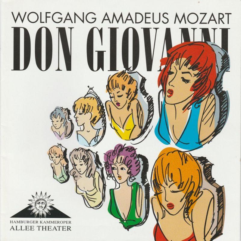 Allee Theater, Hamburger Kammeroper, Uwe Deeken, Jasmin Deeken, Barbara Hass Programmheft DON GIOVANNI. Oper von Wolfgang Amadeus Mozart. Premiere 29. Oktober 2008