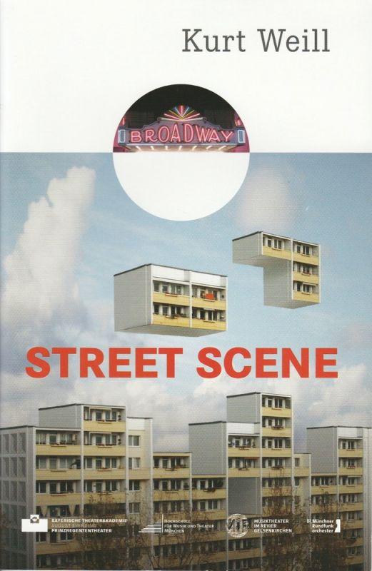 Bayerische Theaterakademie August Everding, Johanna Mangold Programmheft Kurt Weill: Street Scene. American Opera. Premiere 11. Februar 2011 Prinzregententheater 0